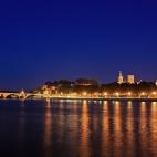 Avignon zur Blauen Stunde