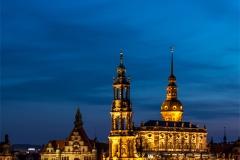 Hofkirche Dresden zur Blauen Stunde