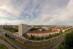 Blick auf die Grunaer Straße