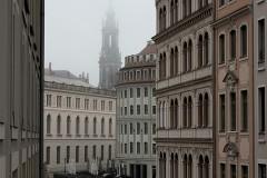 neblige Altstadt