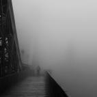 Nebel auf dem Blauen Wunder
