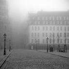 Schlossstraße Dresden Nebel
