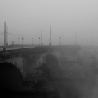 Augustusbrücke im Nebel
