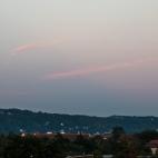 Fernsehturm Dresden mit Mondaufgang