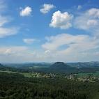 Blick auf Königstein und Lilienstein