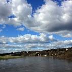 Wolkenspiel über der Elbe