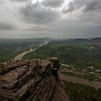 Blick nach Bad Schandau