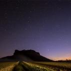 Sternenzelt über dem Lilienstein
