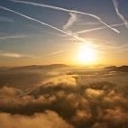 Blick vom Lilienstein zum Sonnenaufgang