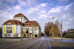 Postplatz und Schauspielhaus Dresden