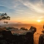 Pfaffenstein mit Sonnenaufgang