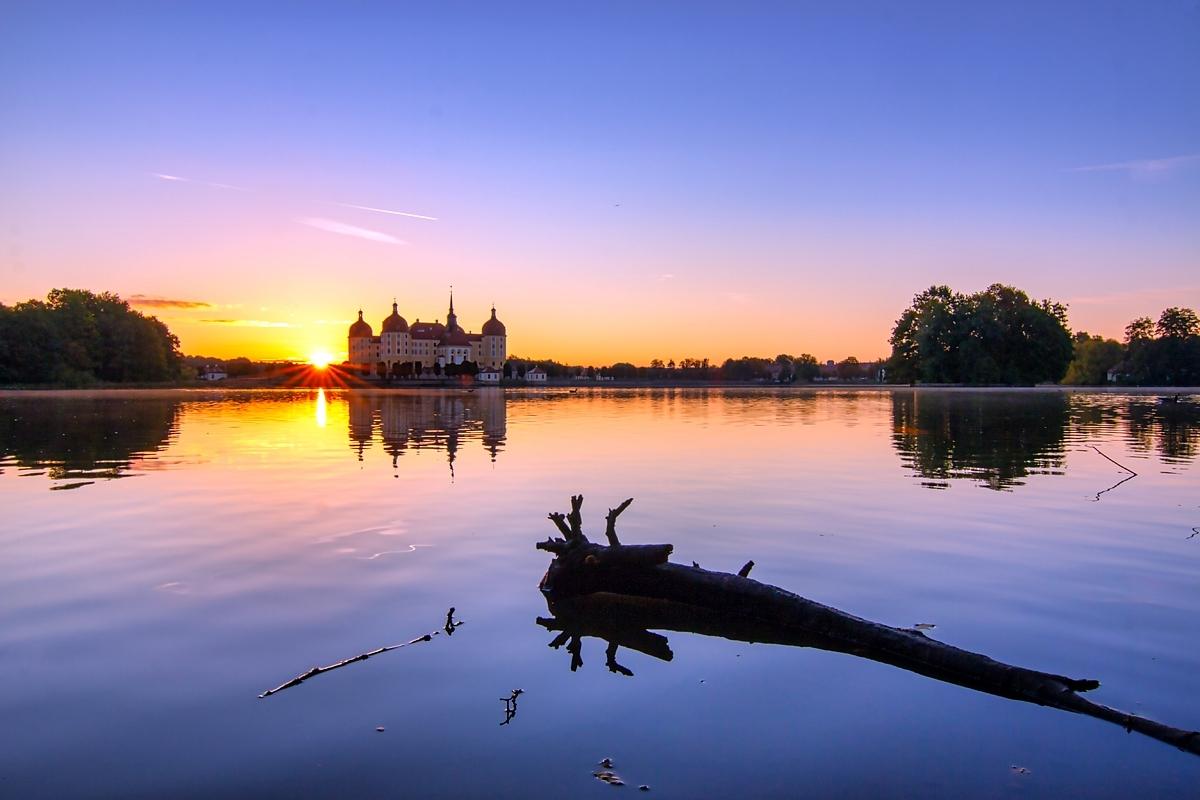 Moritzburg zum Sonnenaufgang