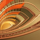 orange stairs IV
