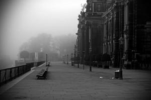 Nebel in Dresden