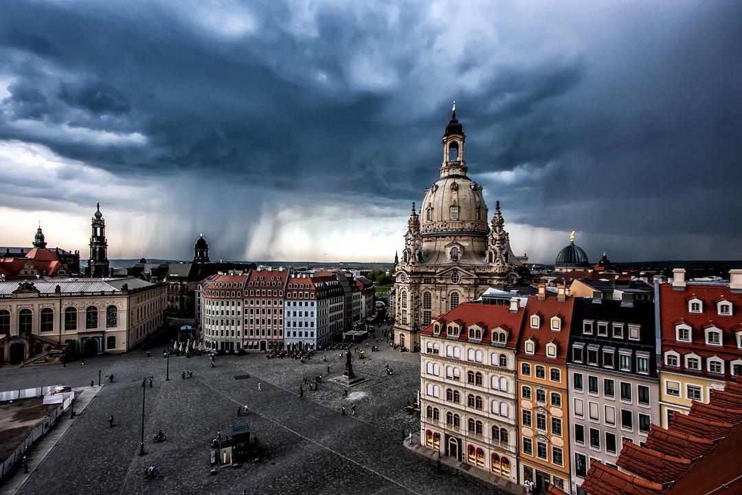 Unwetter über Dresden